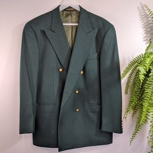 Unique Vintage Faconnable Green Blazer Jacket XL